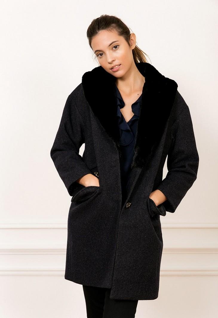 Coat Gris Fonce Marley